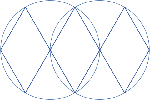 Decad as vesica piscis