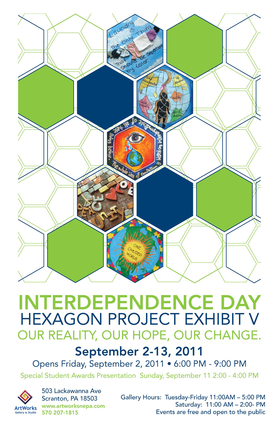 Hexagon Project 2011 poster