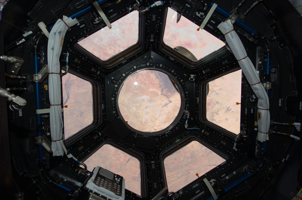 Sahara desert through the ISS cupola