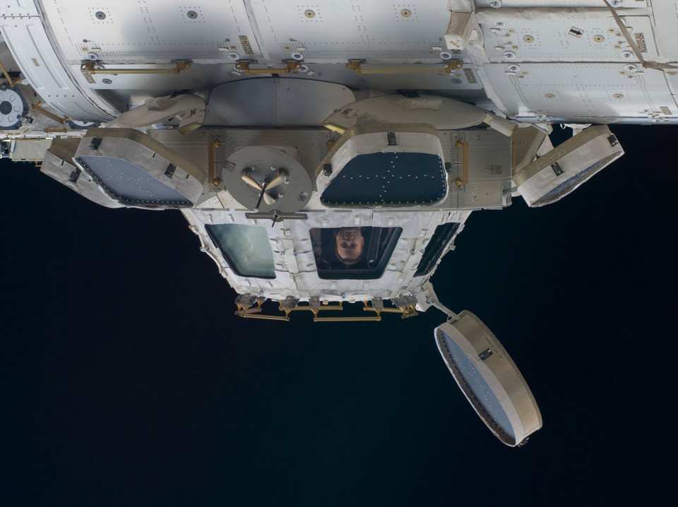 Exterior view of ISS cupola