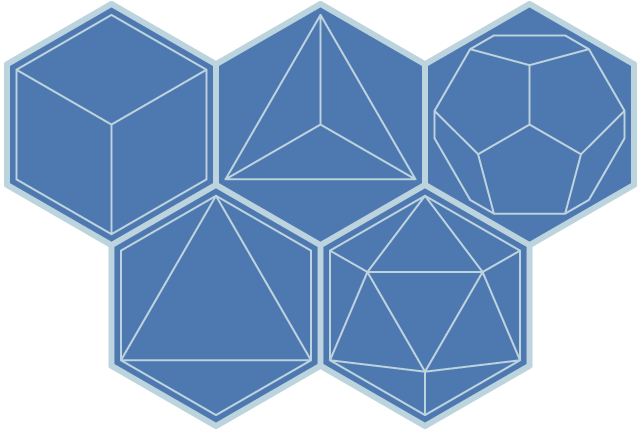 Hexagonal projection of the platonic solidsImages Of Solids