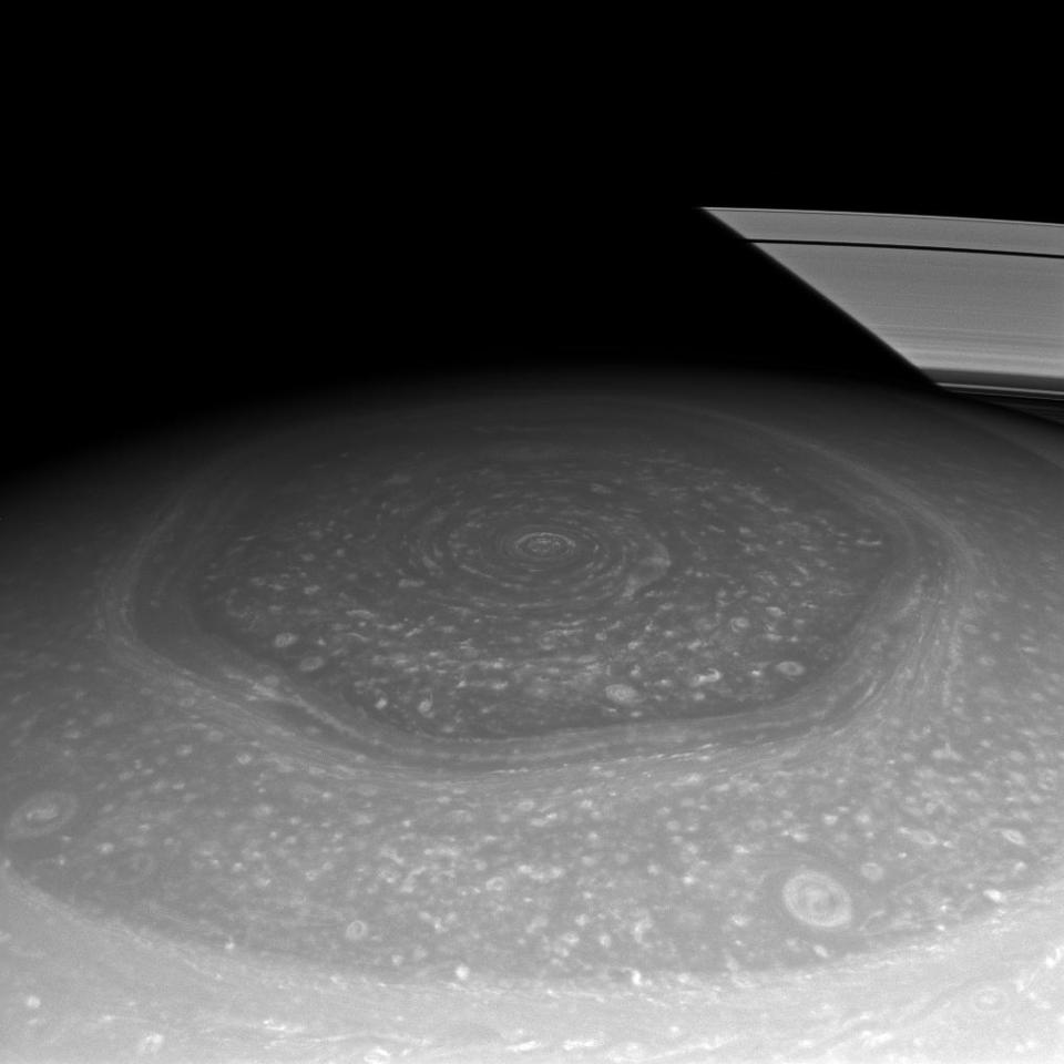 Saturn hexagon from Cassini - 2013-02
