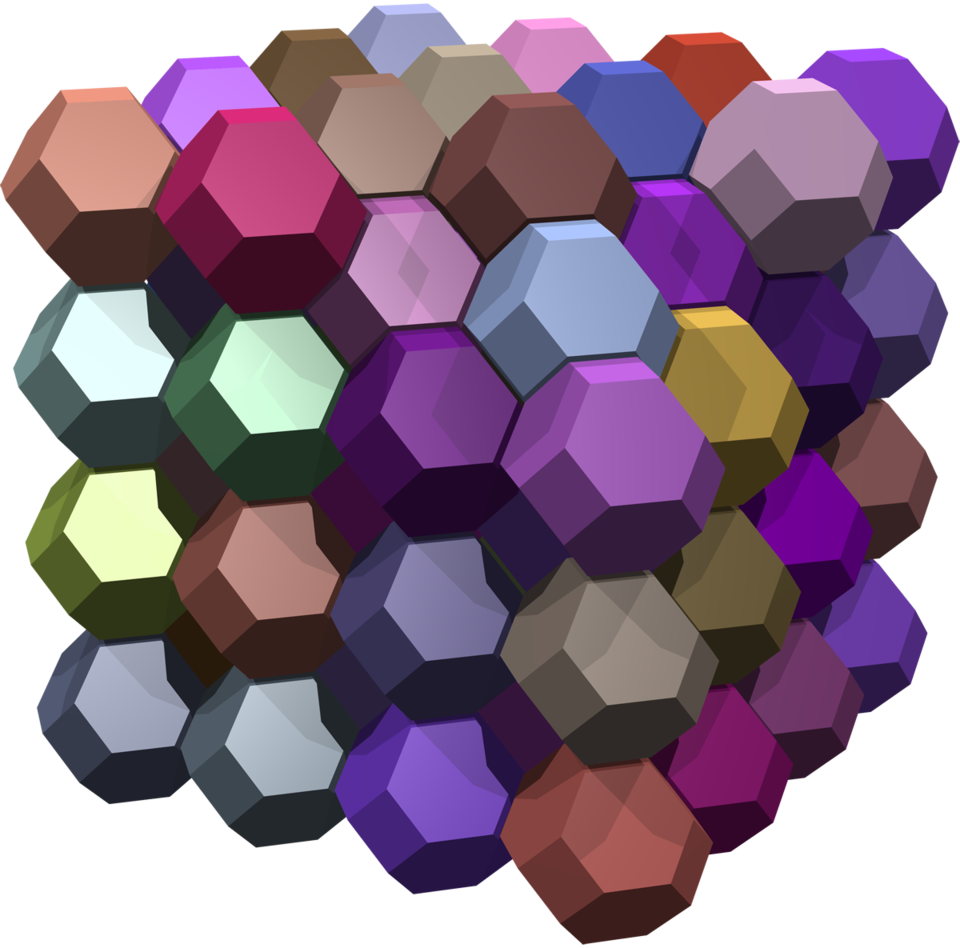 Truncated icosahedral tessellation of 3-space