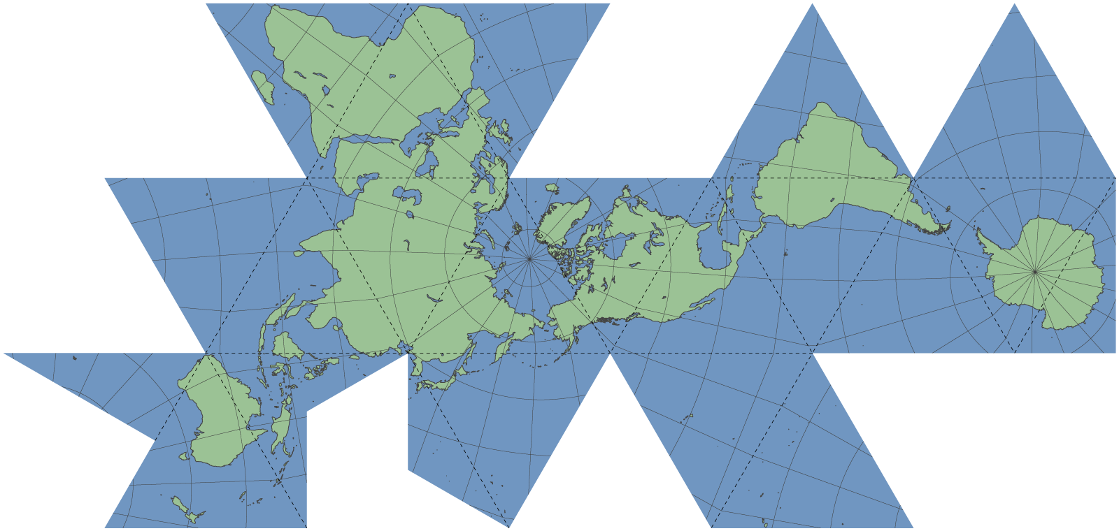 Dymaxion map | Hexnet