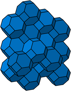 Space filling tessellation of truncated octahedra.